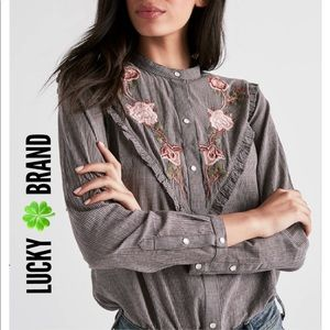 Lucky 🍀 Brand Embroidered Western Shirt